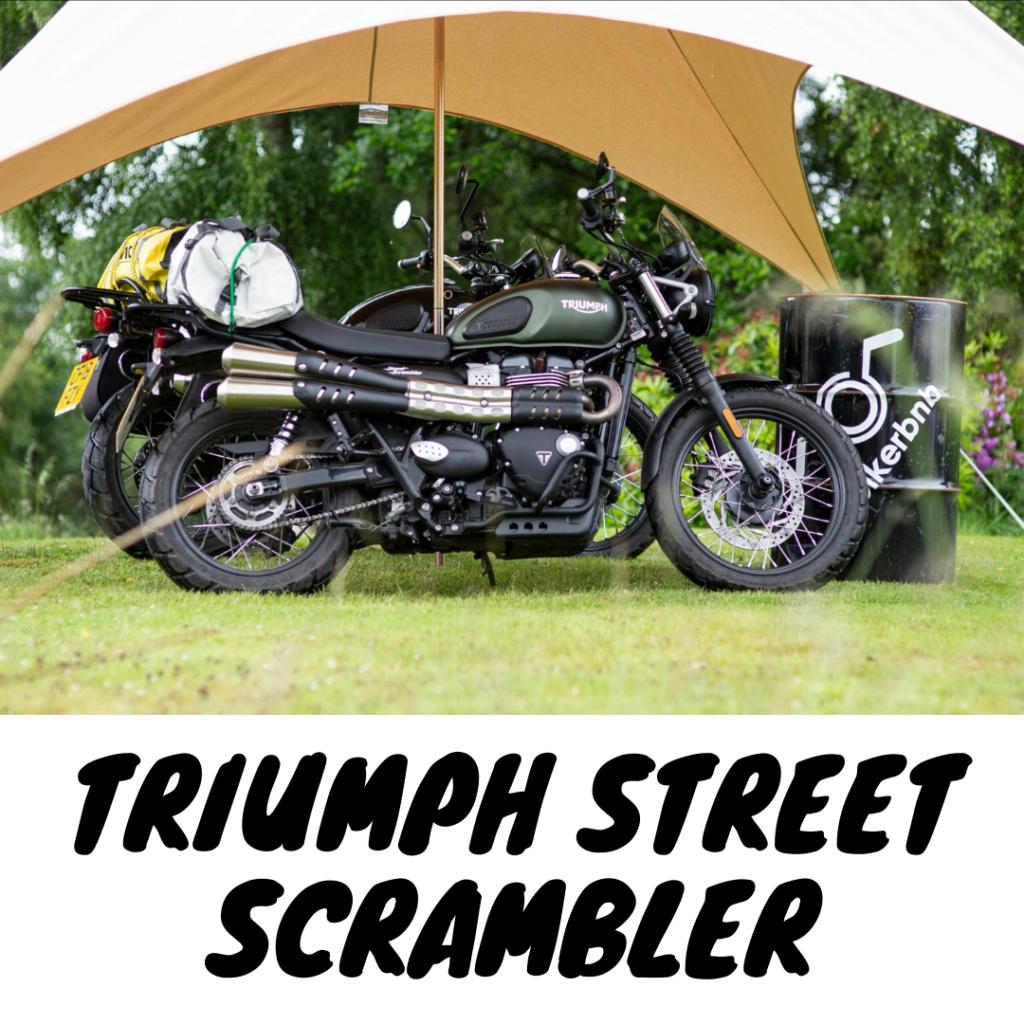 Triumph motorcycle hire Edinburgh
