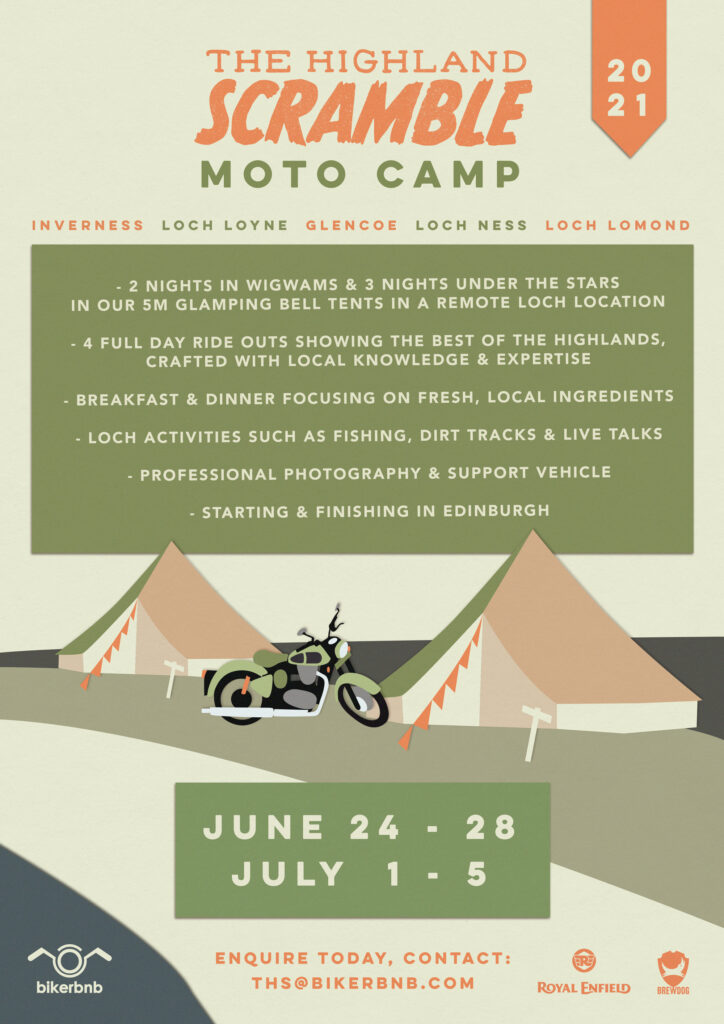 Highland Scramble Moto camp