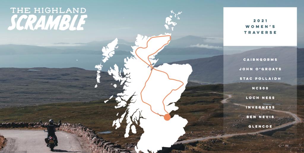Highland Scramble route